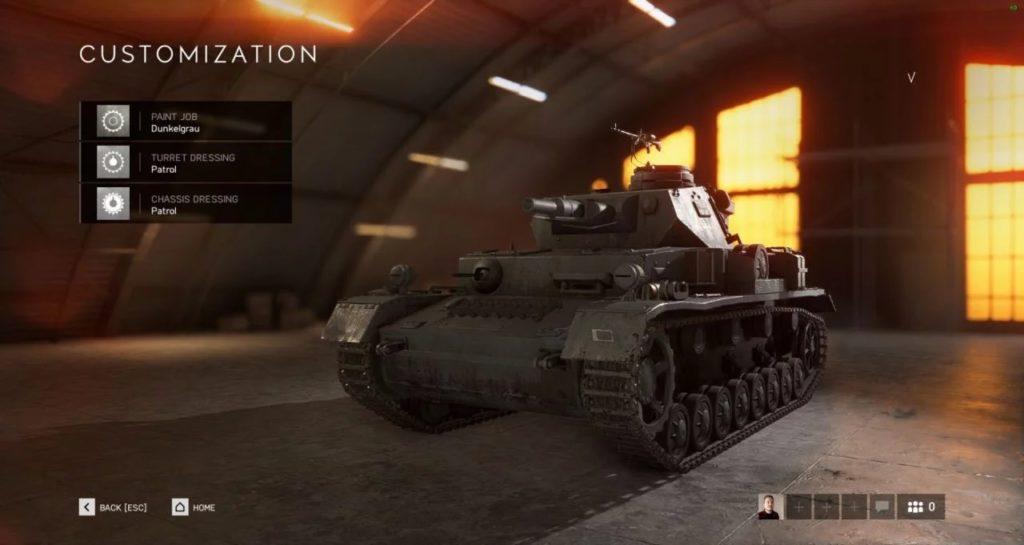 Battlefield V Tankları Kişiselleştirme Özelliği 5