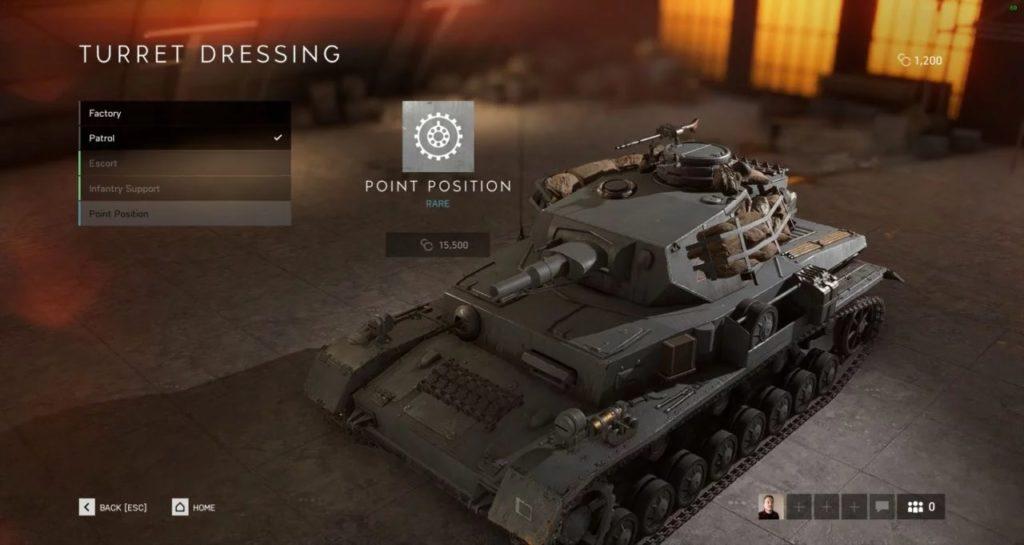 Battlefield V Tankları Kişiselleştirme Özelliği 4