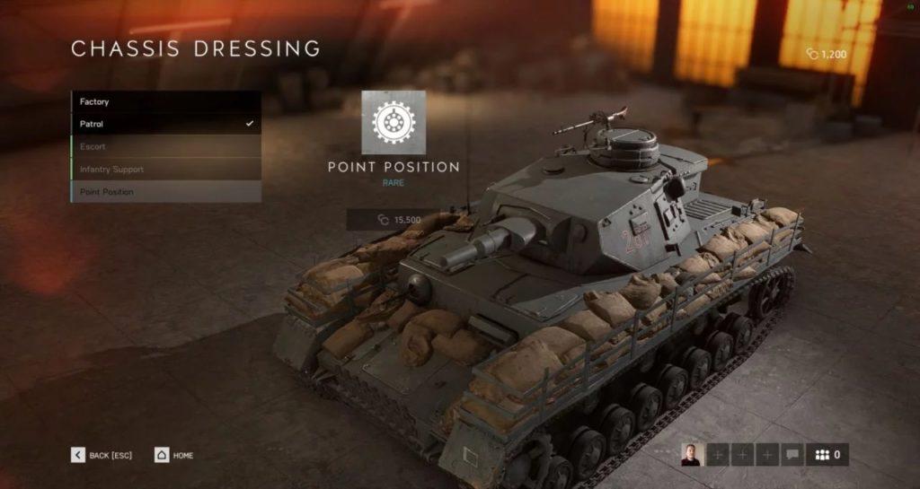 Battlefield V Tankları Kişiselleştirme Özelliği 3