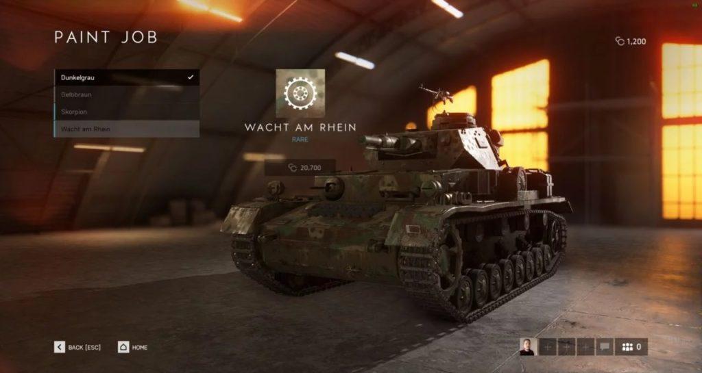Battlefield V Tankları Kişiselleştirme Özelliği 2
