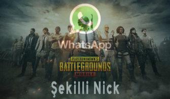 WhatsApp Şekilli Nick PUBG Mobile
